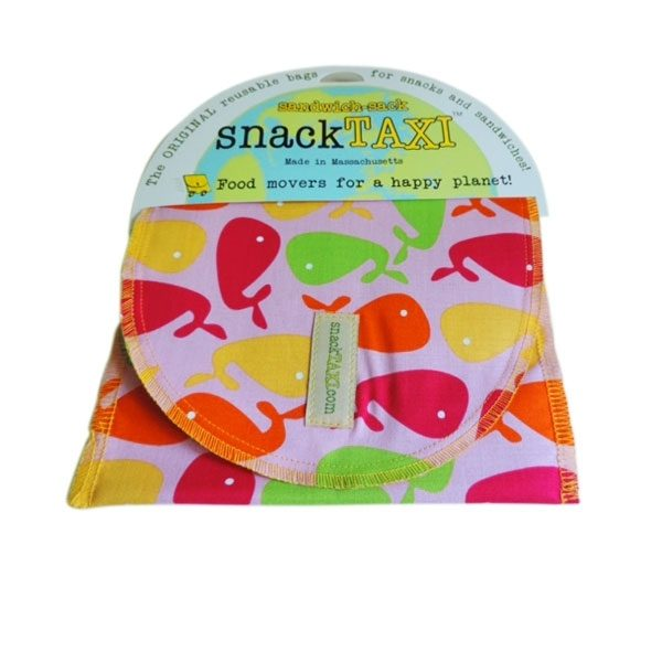 Reusable Sandwich Bag Pink Whales