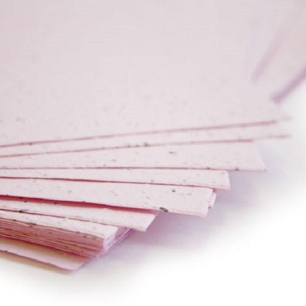Plantable Seed Paper Pastel Pink