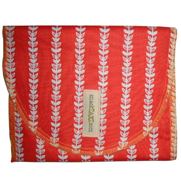Reusable Snack Bag Orange Vine