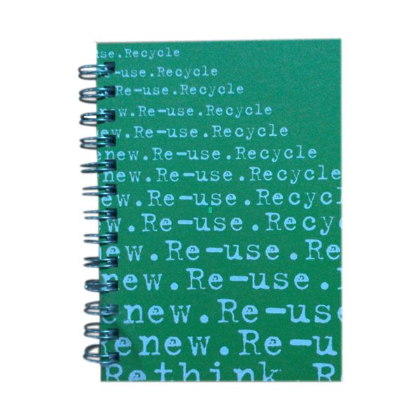 Reuse 5x7 Journal Green