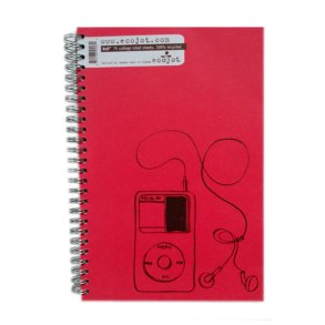 6x9 Ruled Notebook Red
