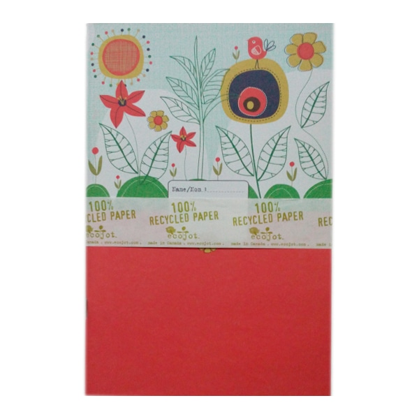 6x9 Notebook OrangeFlower