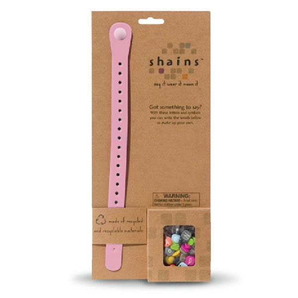 Shains Bracelet with 100 Elements Pink