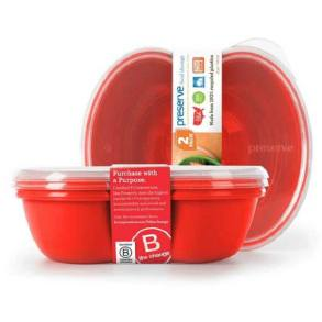 Preserve Sandwich Food Storage Red (2 pack)