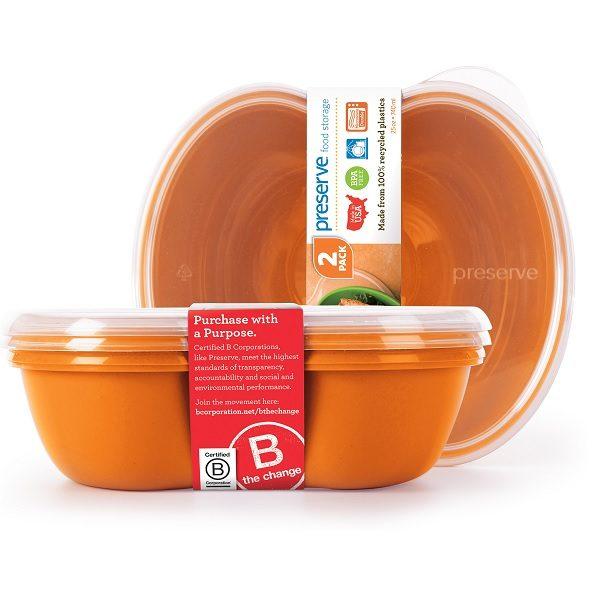 Preserve Sandwich Food Storage Orange (2 pack)