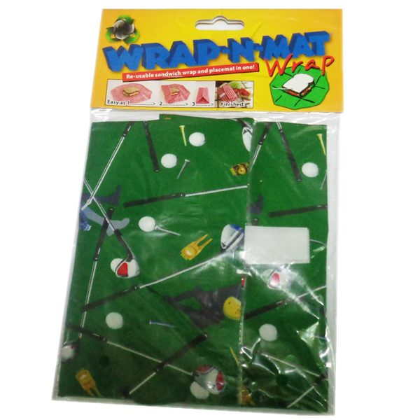 Wrap n Mat Sandwich Bag/Mat  Golf