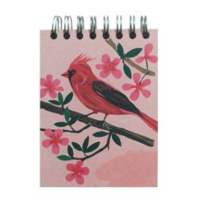 Mini Flip Notebook- Red Cardinal