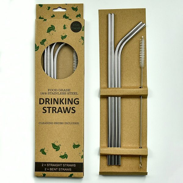 Stainless Steel Straws (Silver)