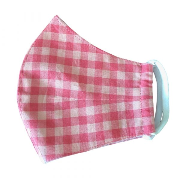 Pink Checks Kids Mask