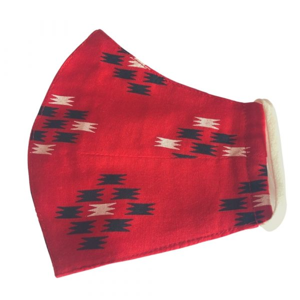 Red Ikat Women's Mask