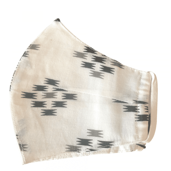 White Ikat Women's Mask