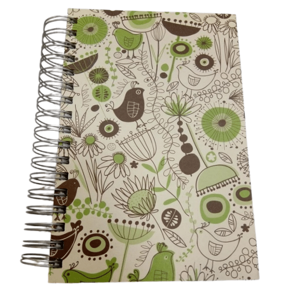 Birds Jumbo Journal Green