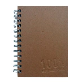 5x7 Notebook Brown