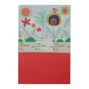 6x9 Notebook OrangeFlower