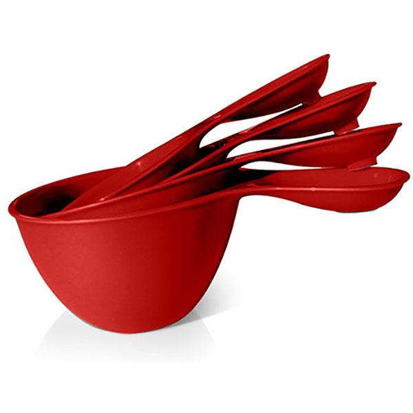 Preserve measuring cups tomato red