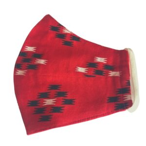 red ikat mask