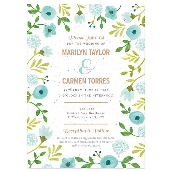 Plantable wedding invite
